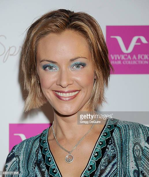 Actress Kristanna Loken arrives at the Vivica A Fox 50th Birthday party at Philippe Chow on August 2 2014 in Beverly Hills California