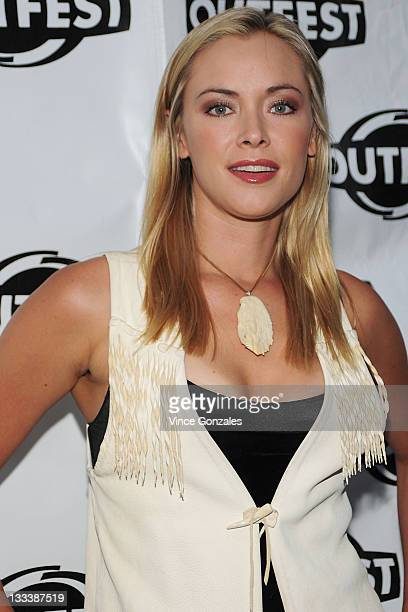 Actress Kristanna Loken attends the 'In The Mix' Outfest Party hosted by Identity Los Angeles and Blueprint at ELEVEN Nightclub on July 14 2008 in...