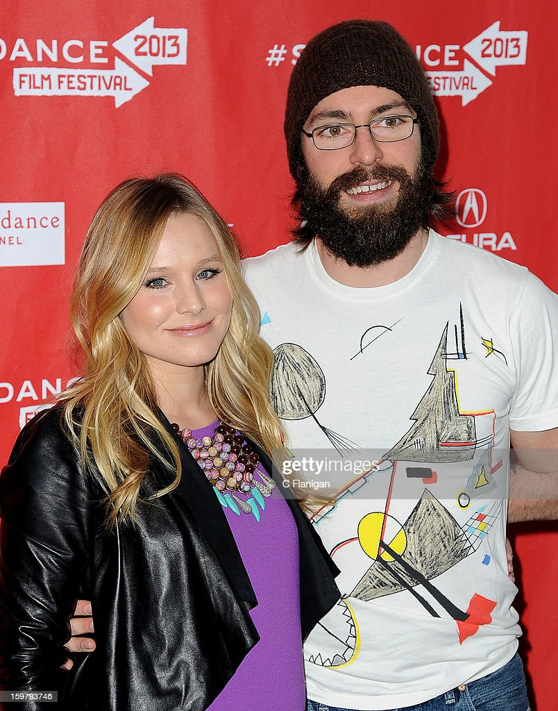 Actress Kristen Bell and Actor Martin Starr arrive for 'The Lifeguard' Premiere at Library Center Theater on January 19, 2013 in Park City, Utah.
