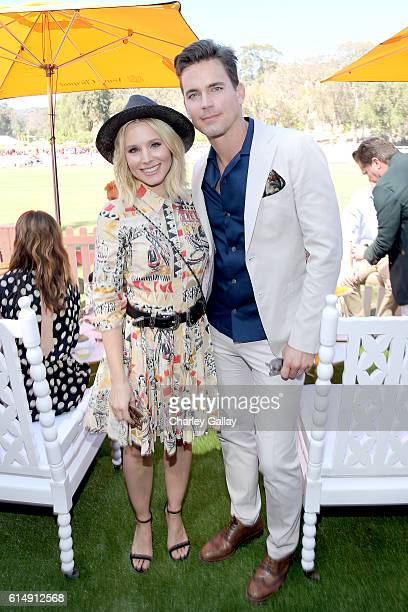 Actress Kristen Bell and actor Matt Bomer attend the Seventh Annual Veuve Clicquot Polo Classic Los Angeles at Will Rogers State Historic Park on...