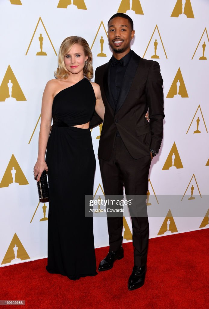 Actress Kristen Bell and actor Michael B Jordan arrive at the Academy Of Motion Picture Arts and Sciences' Scientific And Technical Awards at The...