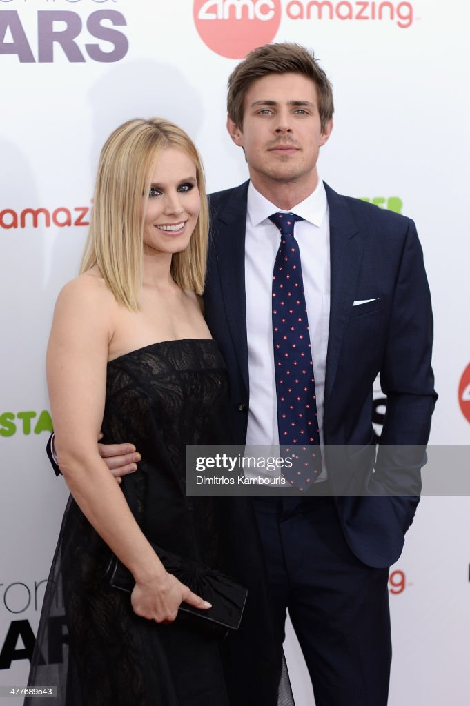 Actress Kristen Bell and Chris Lowell attend the 'Veronica Mars' screening at AMC Loews Lincoln Square on March 10 2014 in New York City