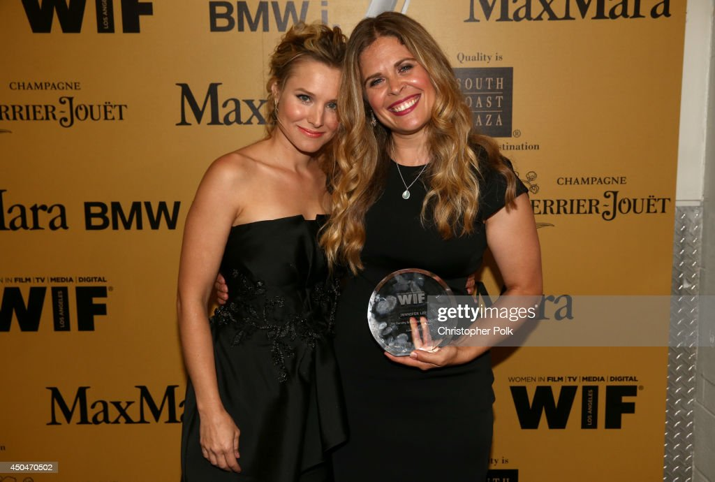 Actress <a gi-track='captionPersonalityLinkClicked' href=/galleries/search?phrase=Kristen+Bell&family=editorial&specificpeople=194764 ng-click='$event.stopPropagation()'>Kristen Bell</a> (L) and Dorothy Arzner Directors Award recipient Jennifer Lee attend Women In Film 2014 Crystal + Lucy Awards presented by MaxMara, BMW, Perrier-Jouet and South Coast Plaza held at the Hyatt Regency Century Plaza on June 11, 2014 in Los Angeles, California.