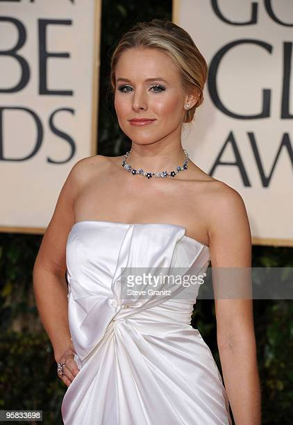 Actress Kristen Bell arrives at the 67th Annual Golden Globe Awards at The Beverly Hilton Hotel on January 17 2010 in Beverly Hills California