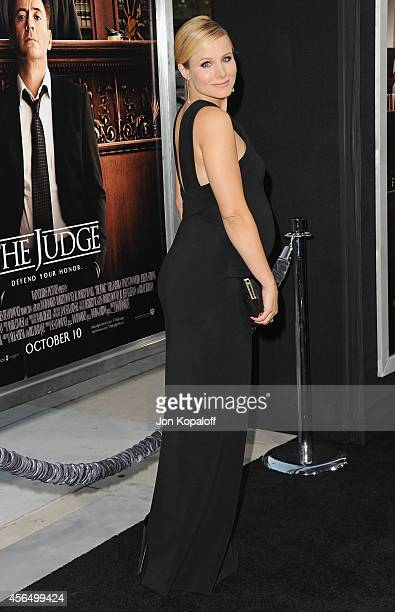 Actress Kristen Bell arrives at the Los Angeles Premiere 'The Judge' at AMPAS Samuel Goldwyn Theater on October 1 2014 in Beverly Hills California