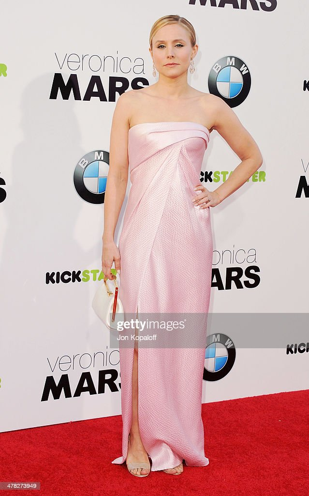 Actress Kristen Bell arrives at the Los Angeles premiere 'Veronica Mars' at TCL Chinese Theatre on March 12, 2014 in Hollywood, California.