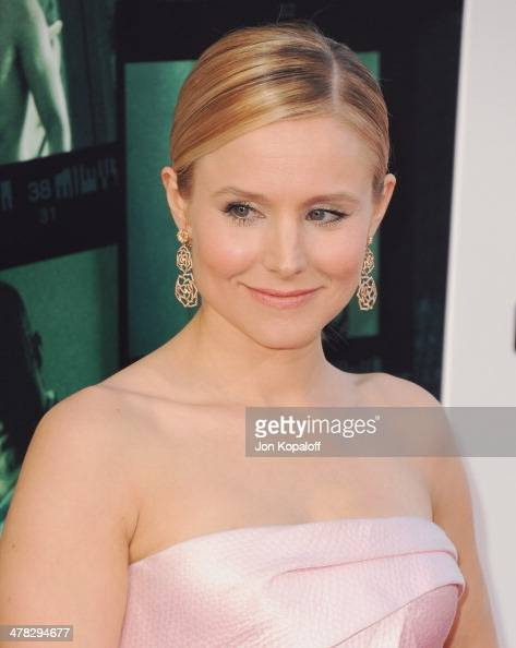Actress Kristen Bell arrives at the Los Angeles premiere 'Veronica Mars' at TCL Chinese Theatre on March 12 2014 in Hollywood California