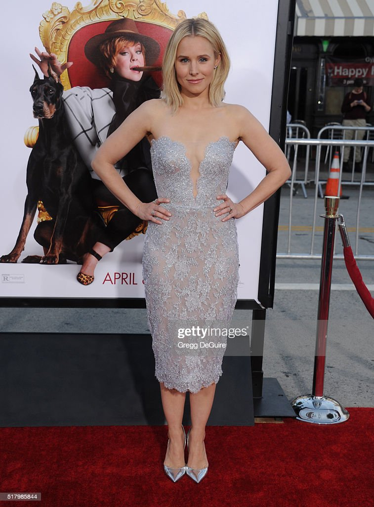 Actress Kristen Bell arrives at the premiere of USA Pictures' 'The Boss' at Regency Village Theatre on March 28 2016 in Westwood California