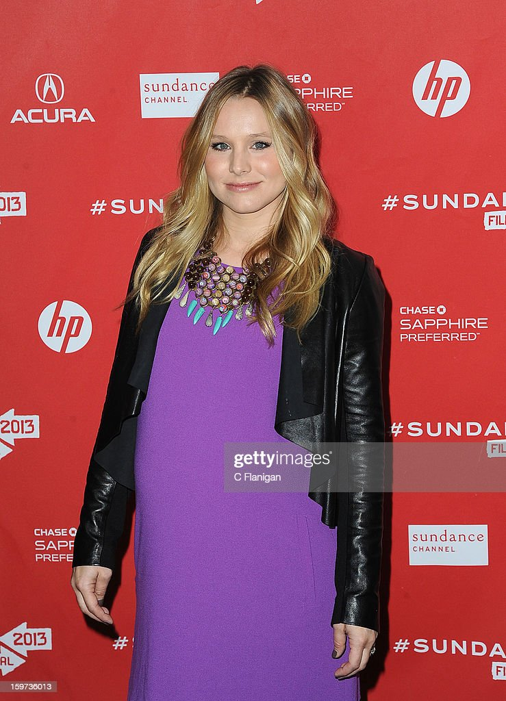 Actress Kristen Bell arrives for 'The Lifeguard' Premiere at Library Center Theater on January 19, 2013 in Park City, Utah.