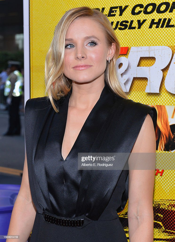 Actress Kristen Bell arrives to the premiere of Open Road Films' 'Hit and Run' on August 14, 2012 in Los Angeles, California.