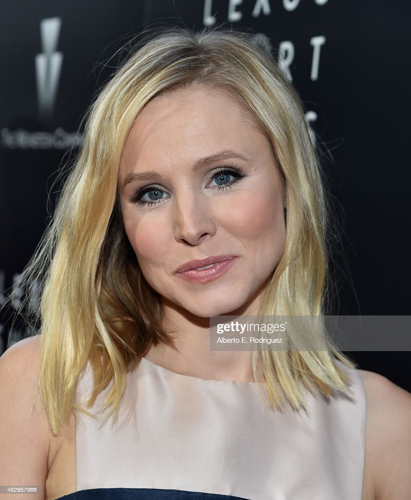 Actress <a gi-track='captionPersonalityLinkClicked' href=/galleries/search?phrase=Kristen+Bell&family=editorial&specificpeople=194764 ng-click='$event.stopPropagation()'>Kristen Bell</a> arrives to The Weinstein Company and Lexus Present Lexus Short Films at The Regal Cinemas L.A. Live on July 30, 2014 in Los Angeles, California.