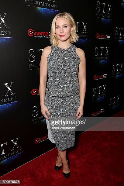 Actress Kristen Bell attends CinemaCon 2016 The State of the Industry Past Present and Future and STX Entertainment Presentation at The Colosseum at...