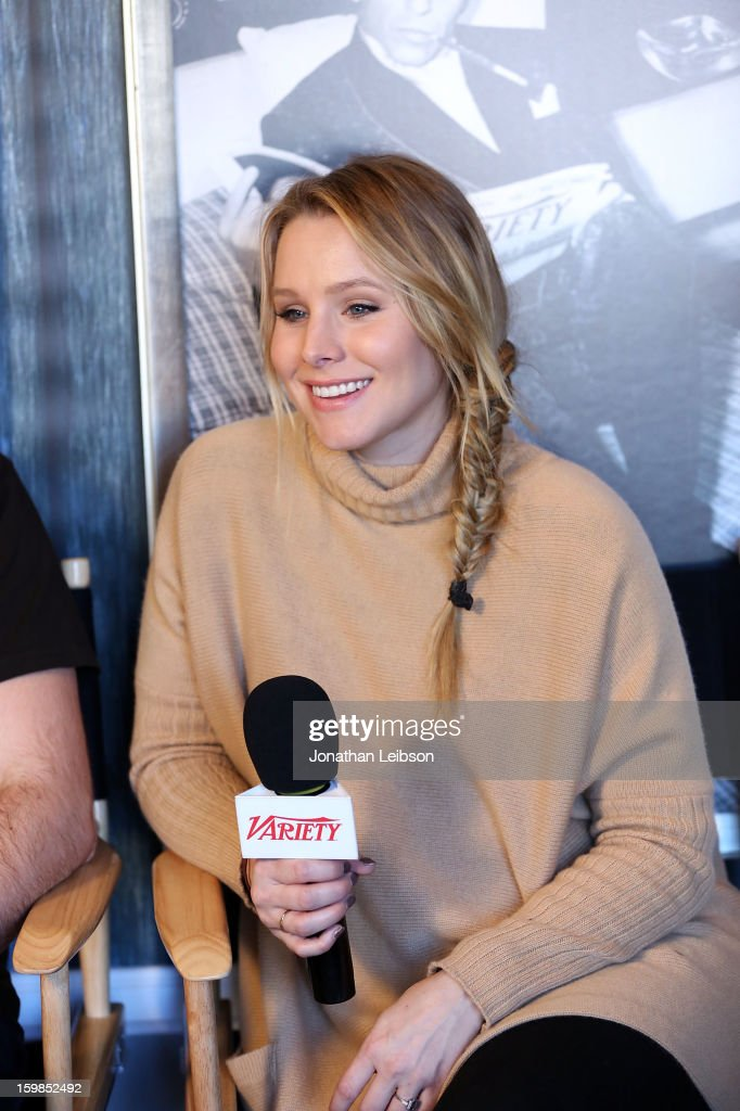 Actress <a gi-track='captionPersonalityLinkClicked' href=/galleries/search?phrase=Kristen+Bell&family=editorial&specificpeople=194764 ng-click='$event.stopPropagation()'>Kristen Bell</a> attends Day 3 of the Variety Studio At 2013 Sundance Film Festival on January 21, 2013 in Park City, Utah.
