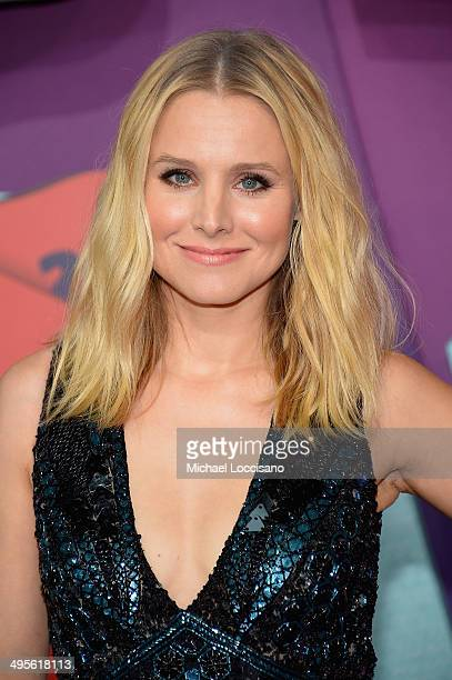 Actress Kristen Bell attends the 2014 CMT Music awards at the Bridgestone Arena on June 4 2014 in Nashville Tennessee