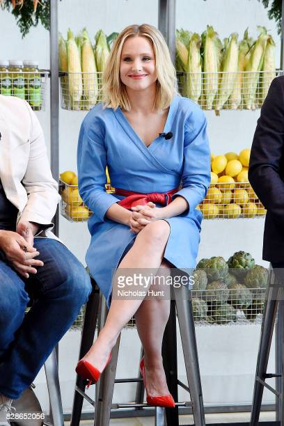 Actress Kristen Bell attends the 2017 #DrinkGoodDoGood Campaign Launch at Little River on August 9 2017 in New York City