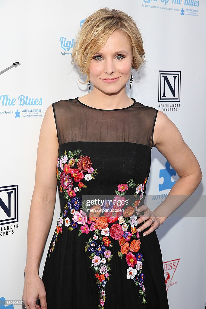 Actress <a gi-track='captionPersonalityLinkClicked' href=/galleries/search?phrase=Kristen+Bell&family=editorial&specificpeople=194764 ng-click='$event.stopPropagation()'>Kristen Bell</a> attends the 2nd Light Up The Blues Concert - An Evening Of Music To Benefit Autism Speaks at The Theatre At Ace Hotel on April 5, 2014 in Los Angeles, California.
