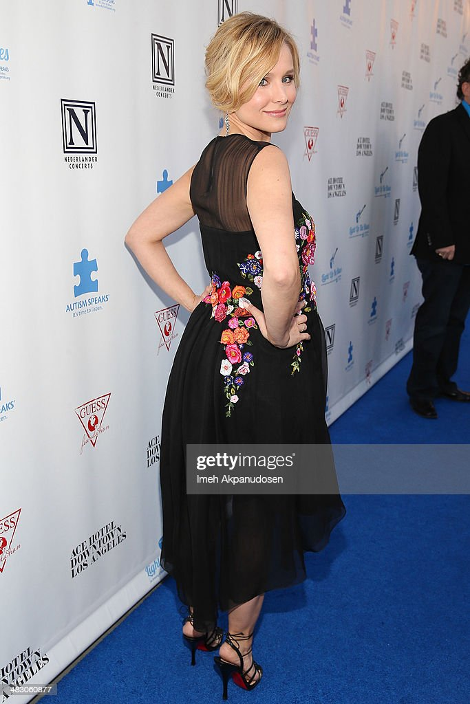 Actress Kristen Bell attends the 2nd Light Up The Blues Concert - An Evening Of Music To Benefit Autism Speaks at The Theatre At Ace Hotel on April 5, 2014 in Los Angeles, California.