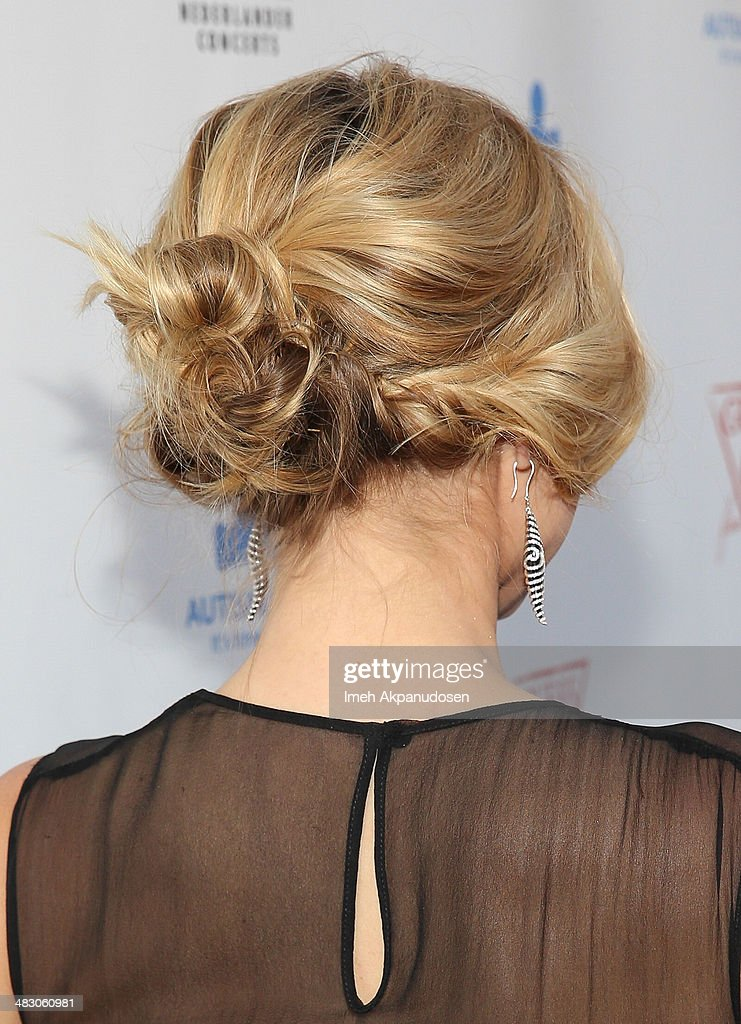Actress Kristen Bell (hair detail) attends the 2nd Light Up The Blues Concert - An Evening Of Music To Benefit Autism Speaks at The Theatre At Ace Hotel on April 5, 2014 in Los Angeles, California.