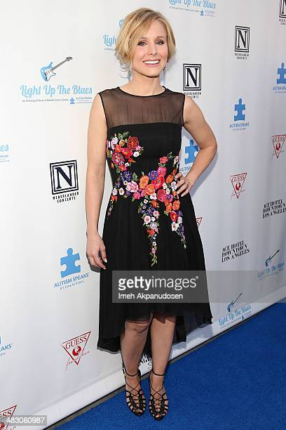 Actress Kristen Bell attends the 2nd Light Up The Blues Concert An Evening Of Music To Benefit Autism Speaks at The Theatre At Ace Hotel on April 5...