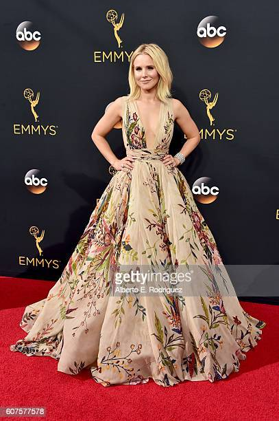 Actress Kristen Bell attends the 68th Annual Primetime Emmy Awards at Microsoft Theater on September 18 2016 in Los Angeles California