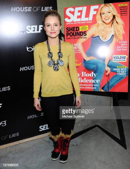 Actress Kristen Bell attends the Bing and Self Magazine celebration for Cover Star Kristen Bell featuring a screening of 'House of Lies' at Bing Bar...