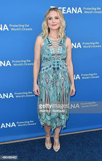 Actress Kristen Bell attends the 'Concert For Our Oceans' hosted by Seth MacFarlane benefitting Oceana at The Wallis Annenberg Center for the...