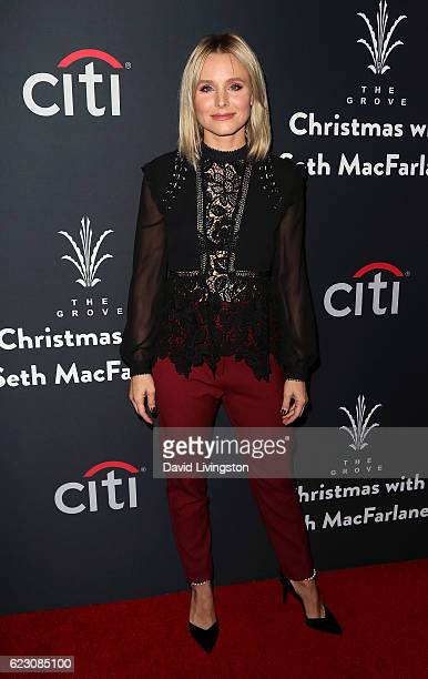 Actress Kristen Bell attends the Grove Christmas with Seth MacFarlane at The Grove on November 13 2016 in Los Angeles California