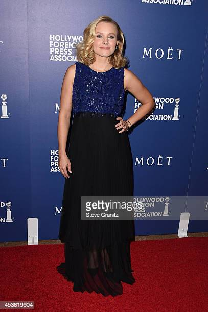 Actress Kristen Bell attends The Hollywood Foreign Press Association Installation Dinner at The Beverly Hilton Hotel on August 14 2014 in Beverly...