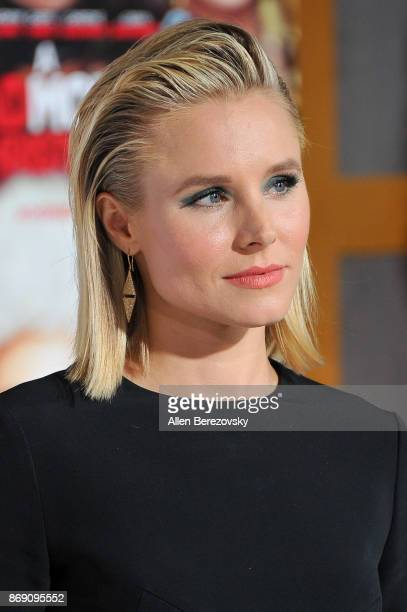 Actress Kristen Bell attends the premiere of STX Entertainment's 'A Bad Moms Christmas' at Regency Village Theatre on October 30 2017 in Westwood...