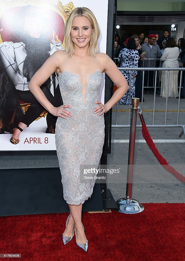 Actress Kristen Bell attends the premiere of USA Pictures' 'The Boss' at Regency Village Theatre on March 28 2016 in Westwood California