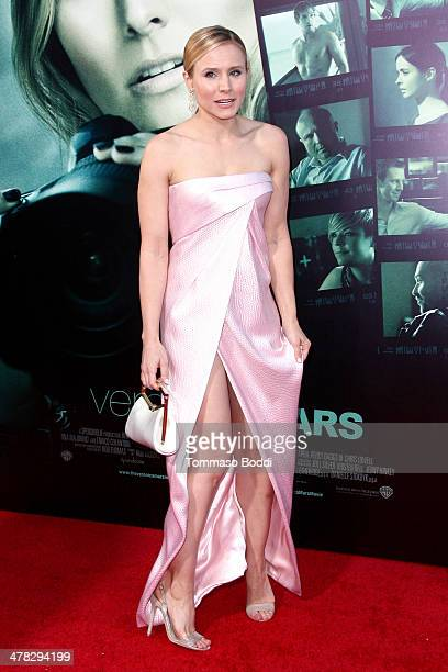 Actress Kristen Bell attends the 'Veronica Mars' Los Angeles premiere held at the TCL Chinese Theatre on March 12 2014 in Hollywood California
