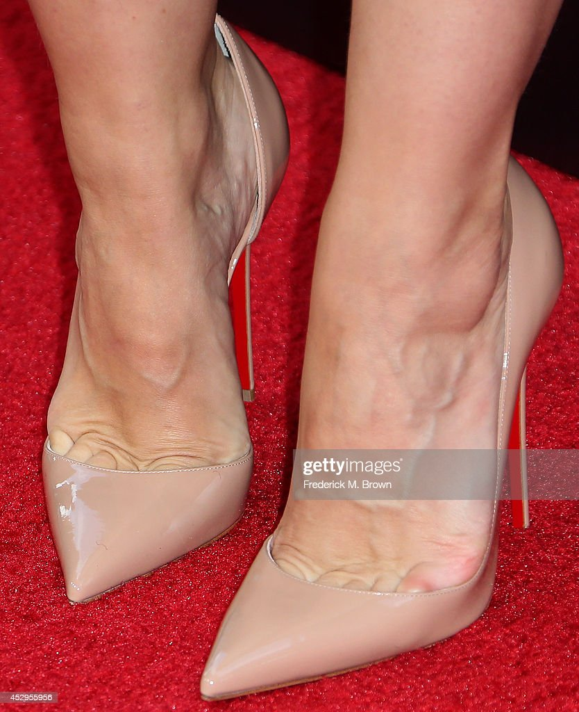 Actress Kristen Bell (shoe detail) attends The Weinstein Company and Lexus Presents Lexus Short Films at the Regal Cinemas L.A. Live on July 30, 2014 in Los Angeles, California.