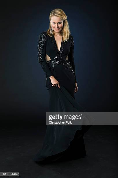 Actress Kristen Bell is photographed at the CMT Music Awards Wonderwall portrait studio on June 4 2014 in Nashville Tennessee
