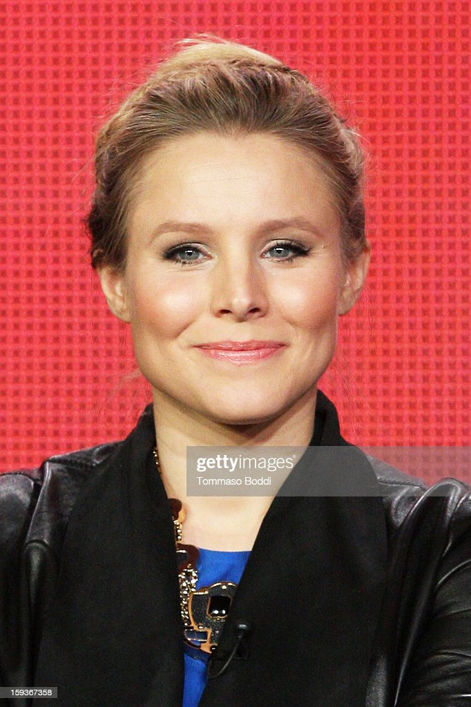 Actress <a gi-track='captionPersonalityLinkClicked' href=/galleries/search?phrase=Kristen+Bell&family=editorial&specificpeople=194764 ng-click='$event.stopPropagation()'>Kristen Bell</a> of the TV show 'House of Lies' attends the 2013 TCA Winter Press Tour CW/CBS panel held at The Langham Huntington Hotel and Spa on January 12, 2013 in Pasadena, California.