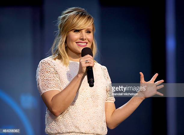 Actress Kristen Bell performs onstage during the 2015 Film Independent Spirit Awards at Santa Monica Beach on February 21 2015 in Santa Monica...