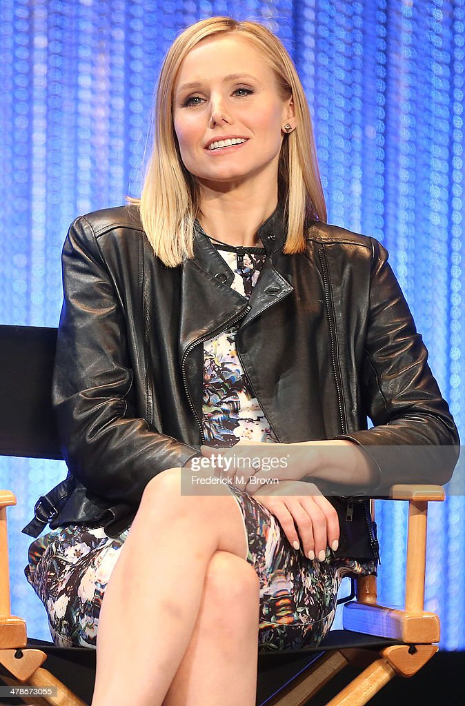 Actress <a gi-track='captionPersonalityLinkClicked' href=/galleries/search?phrase=Kristen+Bell&family=editorial&specificpeople=194764 ng-click='$event.stopPropagation()'>Kristen Bell</a> speaks during The Paley Center for Media's PaleyFest 2014 Honoring 'Veronica Mars' at the Dolby Theatre on March 13, 2014 in Hollywood, California.