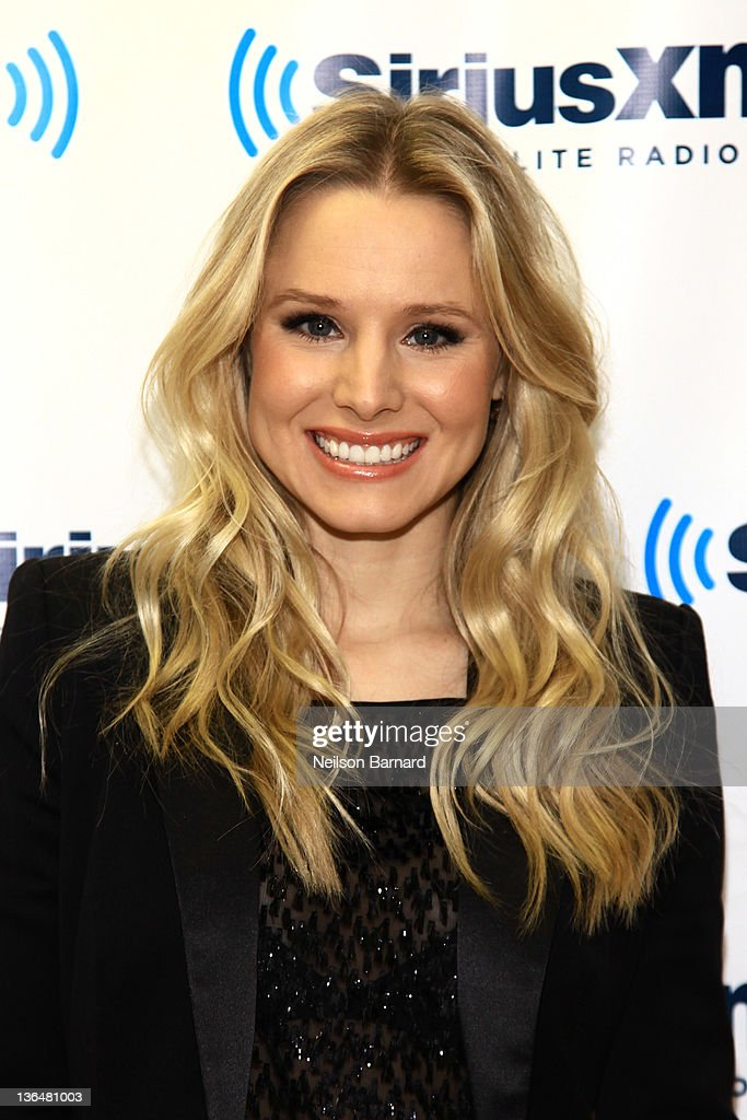 Actress <a gi-track='captionPersonalityLinkClicked' href=/galleries/search?phrase=Kristen+Bell&family=editorial&specificpeople=194764 ng-click='$event.stopPropagation()'>Kristen Bell</a> visits the 'Mark Says Hi!' show on Raw Dog Comedy at SiriusXM Studios on January 6, 2012 in New York City.