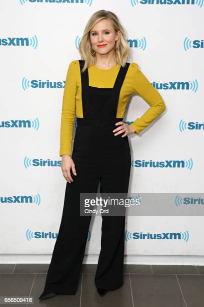 Actress Kristen Bell visits the SiriusXM Studios on March 22 2017 in New York City