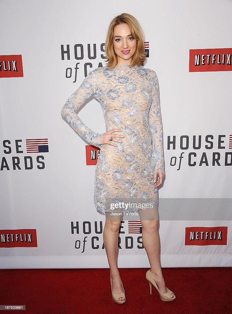 Actress Kristen Connolly attends a Q&A for 'House Of Cards' at Leonard H. Goldenson Theatre on April 25, 2013 in North Hollywood, California.