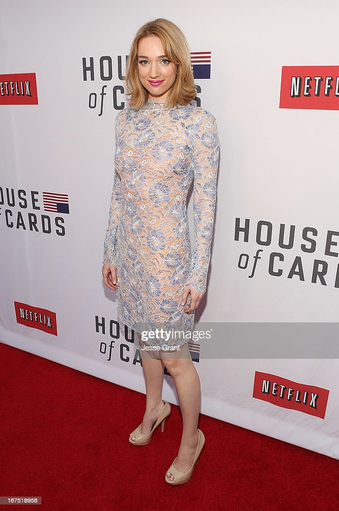 Actress Kristen Connolly attends Netflix's 'House of Cards' For Your Consideration Q&A on April 25, 2013 at the Leonard H. Goldenson Theatre in North Hollywood, California.