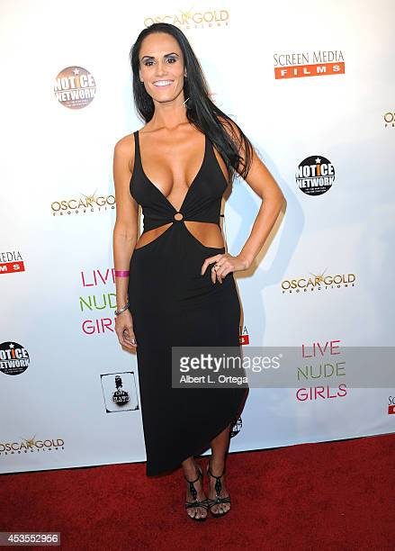Actress Kristen DeLuca arrives for the Premiere Of 'Live Nude Girls' held at Avalon on August 12 2014 in Hollywood California