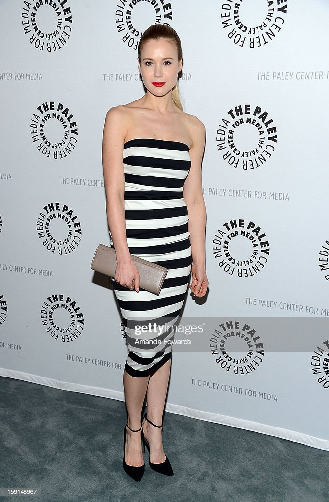Actress Kristen Hager arrives at The Paley Center for Media presents an evening with Syfy's 'Being Human' season 3 premiere screening and panel at The Paley Center for Media on January 8, 2013 in Beverly Hills, California.