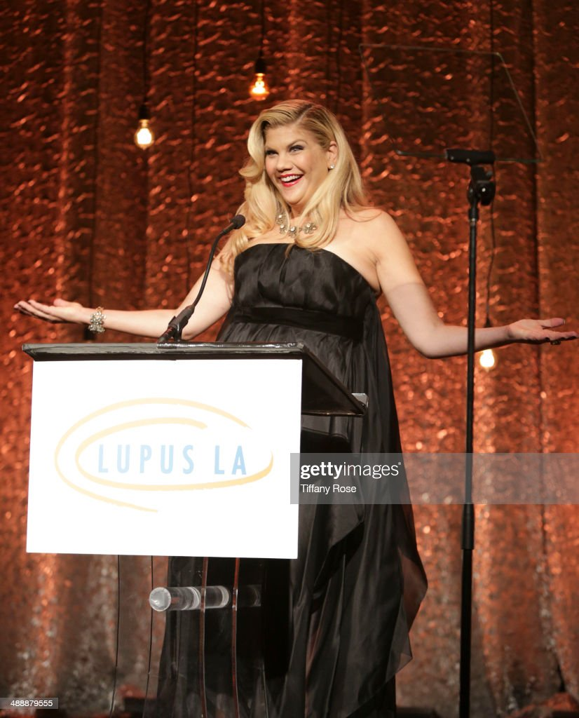 Actress <a gi-track='captionPersonalityLinkClicked' href=/galleries/search?phrase=Kristen+Johnston&family=editorial&specificpeople=680408 ng-click='$event.stopPropagation()'>Kristen Johnston</a> hosts the Lupus LA Orange Ball on May 8, 2014 in Beverly Hills, California.