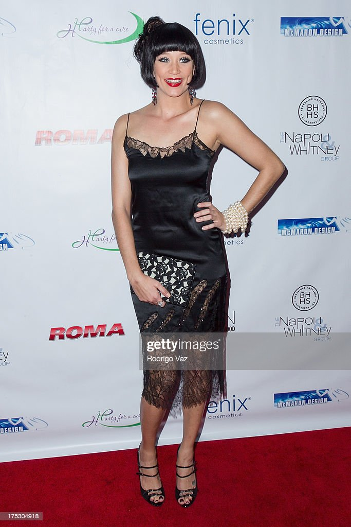 Actress Kristen Renton arrives at Playboy Radio's Hollywood Casino Night benefiting The Leukemia & Lymphoma Society's Hodgkins Haters at W Hollywood on August 1, 2013 in Hollywood, California.