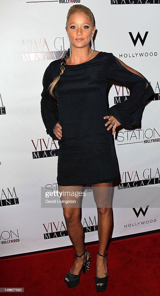 Actress Kristen Renton attends the Viva Glam Magazine September Issue launch party at Station Hollywood on July 31, 2012 in Hollywood, California.