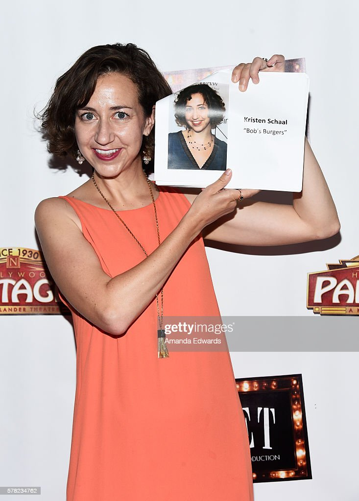 Actress Kristen Schaal arrives at the opening of 'Cabaret' at the Hollywood Pantages Theatre on July 20, 2016 in Hollywood, California.