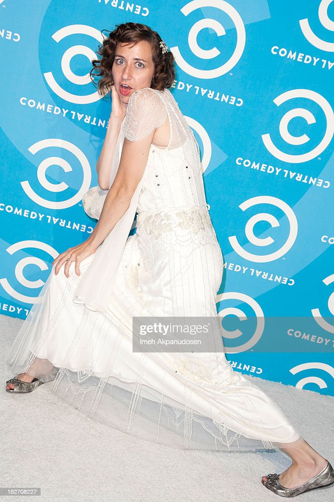 Actress <a gi-track='captionPersonalityLinkClicked' href=/galleries/search?phrase=Kristen+Schaal&family=editorial&specificpeople=2479209 ng-click='$event.stopPropagation()'>Kristen Schaal</a> attends the 2012 Primetime Emmy Awards Comedy Central Party at Cecconi's Restaurant on September 23, 2012 in Los Angeles, California.