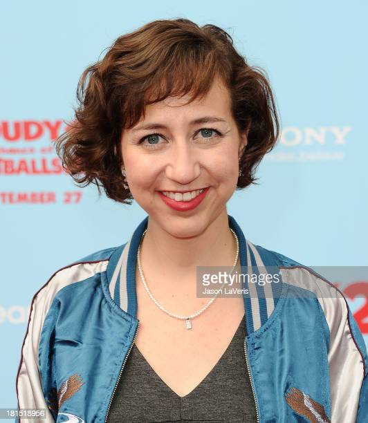 Actress Kristen Schaal attends the premiere of 'Cloudy With a Chance of Meatballs 2' at Regency Village Theatre on September 21 2013 in Westwood...