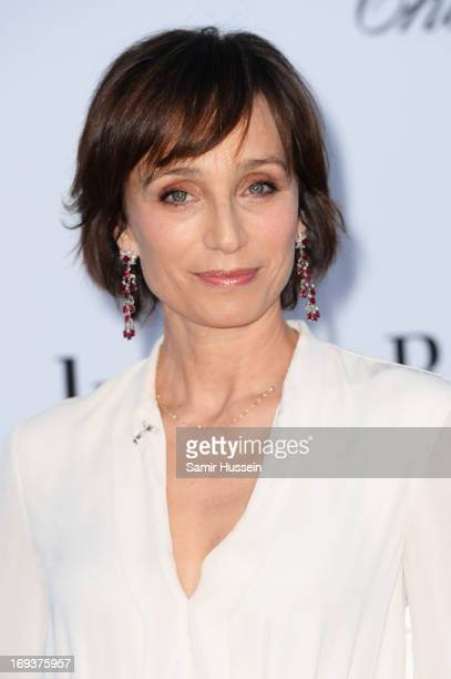 Actress Kristen Scott Thomas attends amfAR's 20th Annual Cinema Against AIDS during The 66th Annual Cannes Film Festival at Hotel du CapEdenRoc on...