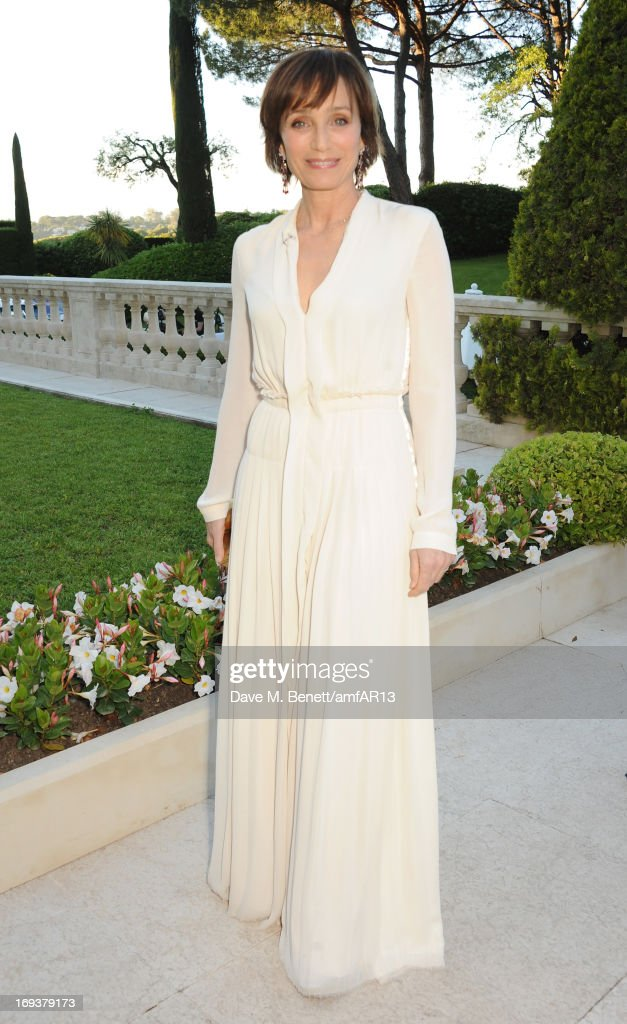 Actress Kristen Scott Thomas attends amfAR's 20th Annual Cinema Against AIDS during The 66th Annual Cannes Film Festival at Hotel du Cap-Eden-Roc on May 23, 2013 in Cap d'Antibes, France.
